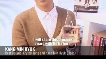 DF Awards 2013 _Min Hyuk's Best Couple Acceptance Speech.mp4_000034134